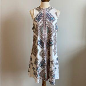 Altair's State sleeveless a-line mini dress